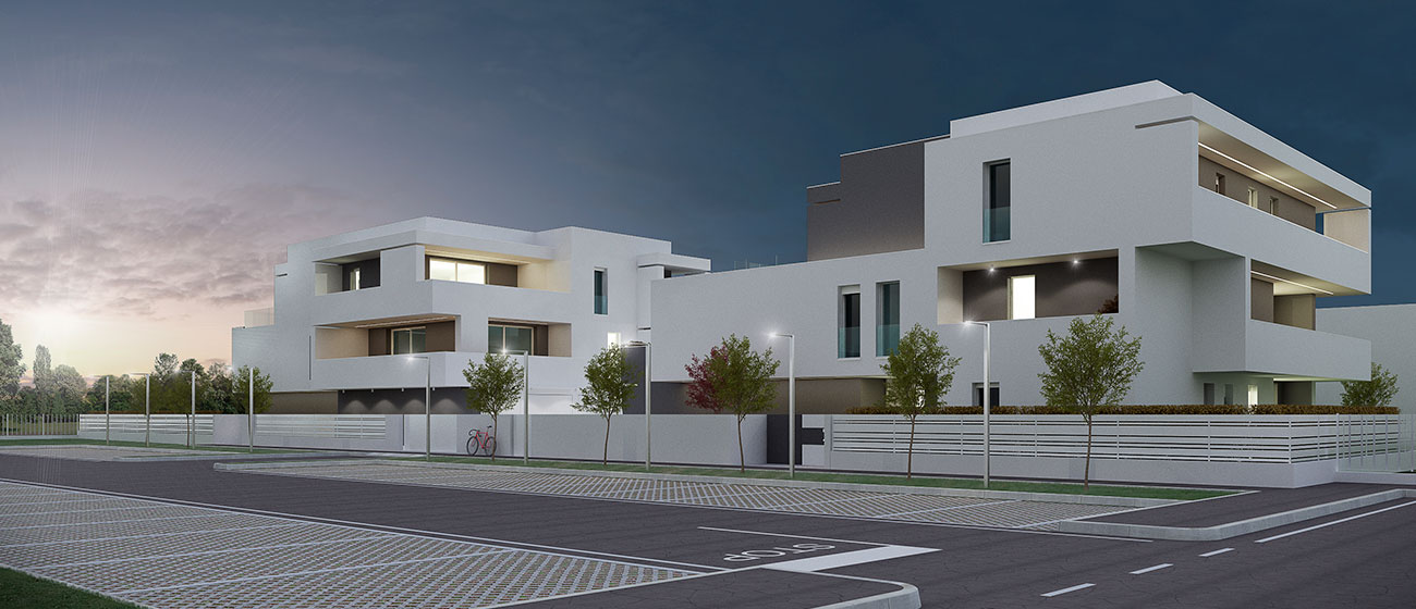 Vista Laterale Residenza 4-4 Cazzago di Pianiga Immobiliare Advantage