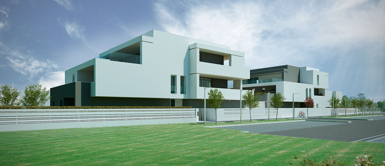 Vista frontale Residenza 4-4 Cazzago di Pianiga Immobiliare Advantage